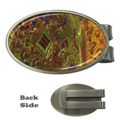 Fractal Virtual Abstract Money Clips (oval)