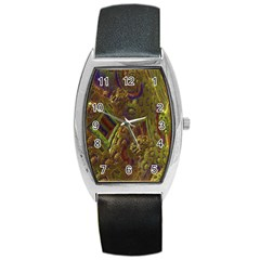 Fractal Virtual Abstract Barrel Style Metal Watch