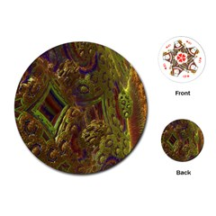 Fractal Virtual Abstract Playing Cards (round)