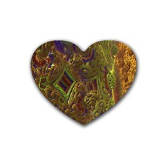 Fractal Virtual Abstract Heart Coaster (4 Pack)