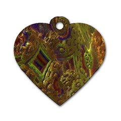 Fractal Virtual Abstract Dog Tag Heart (two Sides)