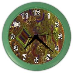 Fractal Virtual Abstract Color Wall Clocks