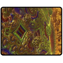 Fractal Virtual Abstract Fleece Blanket (medium)