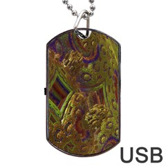 Fractal Virtual Abstract Dog Tag Usb Flash (two Sides)