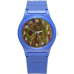 Fractal Virtual Abstract Round Plastic Sport Watch (s)
