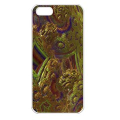 Fractal Virtual Abstract Apple Iphone 5 Seamless Case (white)