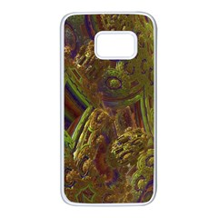 Fractal Virtual Abstract Samsung Galaxy S7 White Seamless Case