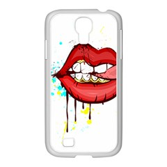 Bit Your Tongue Samsung Galaxy S4 I9500/ I9505 Case (white)
