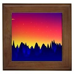 Night Landscape Framed Tiles