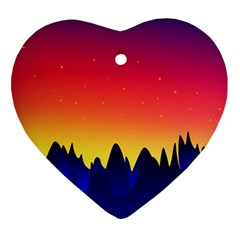 Night Landscape Ornament (heart)