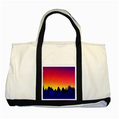 Night Landscape Two Tone Tote Bag