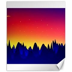 Night Landscape Canvas 8  X 10