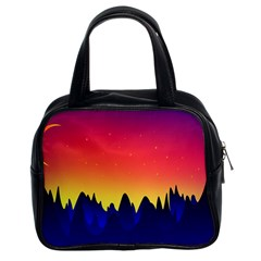 Night Landscape Classic Handbags (2 Sides)