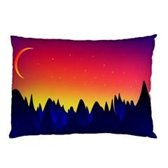 Night Landscape Pillow Case