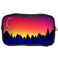 Night Landscape Toiletries Bags
