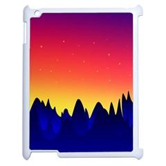 Night Landscape Apple Ipad 2 Case (white)