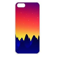 Night Landscape Apple Iphone 5 Seamless Case (white)