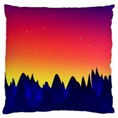 Night Landscape Large Flano Cushion Case (one Side)