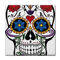 Cranium Sugar Skull Tile Coasters