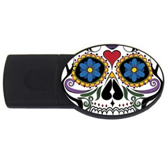 Cranium Sugar Skull Usb Flash Drive Oval (2 Gb)