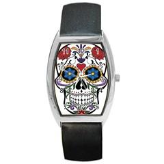 Cranium Sugar Skull Barrel Style Metal Watch