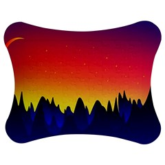 Night Landscape Jigsaw Puzzle Photo Stand (bow)