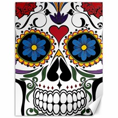 Cranium Sugar Skull Canvas 12  X 16   by sherylchapmanphotography