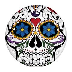 Cranium Sugar Skull Ornament (round Filigree)