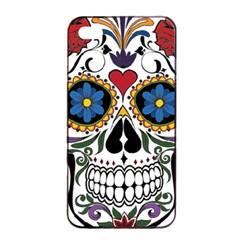 Cranium Sugar Skull Apple Iphone 4/4s Seamless Case (black)