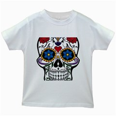 Cranium Sugar Skull Kids White T Shirts