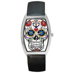 Cranium Sugar Skull Barrel Style Metal Watch