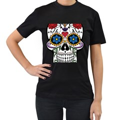 Cranium Sugar Skull Women s T Shirt (black)