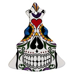 Cranium Sugar Skull Christmas Tree Ornament (two Sides)