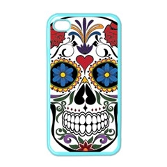 Cranium Sugar Skull Apple Iphone 4 Case (color)