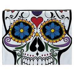 Cranium Sugar Skull Cosmetic Bag (xxxl)