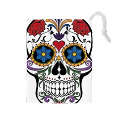 Cranium Sugar Skull Drawstring Pouches (large)