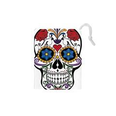 Cranium Sugar Skull Drawstring Pouches (xs)