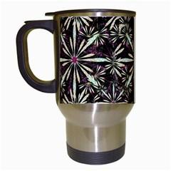Dark Tropical Pattern Travel Mugs (white)