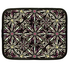 Dark Tropical Pattern Netbook Case (large)