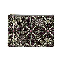 Dark Tropical Pattern Cosmetic Bag (large)