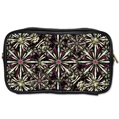 Dark Tropical Pattern Toiletries Bags 2 Side