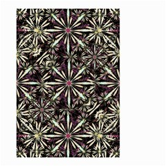 Dark Tropical Pattern Small Garden Flag (two Sides)