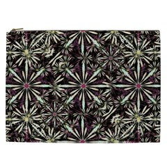 Dark Tropical Pattern Cosmetic Bag (xxl)