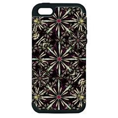 Dark Tropical Pattern Apple Iphone 5 Hardshell Case (pc+silicone) by dflcprints