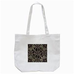 Dark Tropical Pattern Tote Bag (white)
