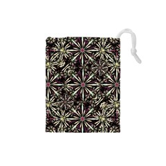 Dark Tropical Pattern Drawstring Pouches (small)