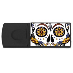 Sugar Skull Rectangular Usb Flash Drive