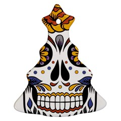 Sugar Skull Christmas Tree Ornament (two Sides)