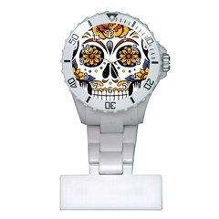 Sugar Skull Plastic Nurses Watch