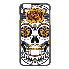 Sugar Skull Apple Iphone 6 Plus/6s Plus Black Enamel Case